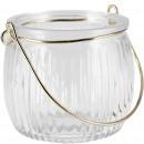 Glass lantern Pendre for hanging, D8cm, H7cm, clea